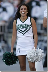 20 October 2007:  Michigan State Spartans  cheerleader during the Spartans 24-17 loss to the Ohio State Buckeyes in Columbus Ohio.
